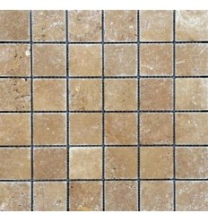 MOSAIQUE TRAVERTIN VIEILLI 4.8x48 NOCE