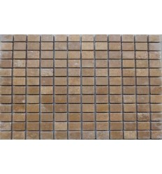 MOSAIQUE TRAVERTIN VIEILLI 2.3x2.3 NOCE
