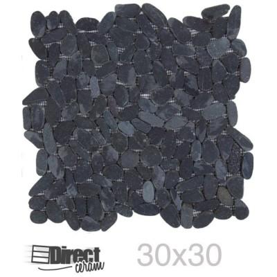 carrelage noir 30x30 galets